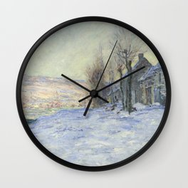 Lavacourt under Snow Wall Clock