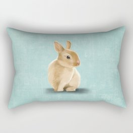 Portrait of a little bunny Rectangular Pillow