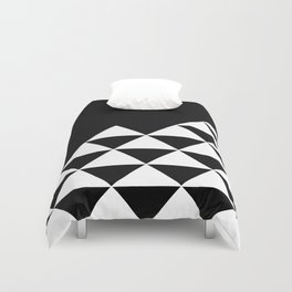 Abstract geometric pattern - black and white. Duvet Cover