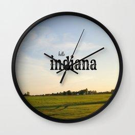 Hello Indiana Wall Clock
