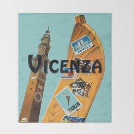 Vintage Vicenza Italy Travel Throw Blanket