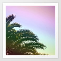 Palm Leaves  - Tropical Sky - Chilling Time Art Print