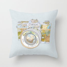 TRAVEL CAN0N Throw Pillow