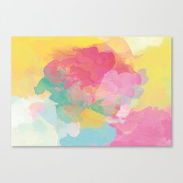 RAINBOW SPLATTER LAYERS Canvas Print
