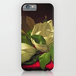 Magnoliae Grandeflorae (Magnolia) on Red Velvet by Martin Johnson Heade iPhone Case