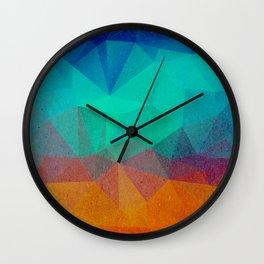 Geometric Nightfall Wall Clock