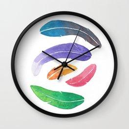 Feath-leaves Wall Clock