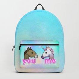 You vs Me Unicorn Emoji Backpack
