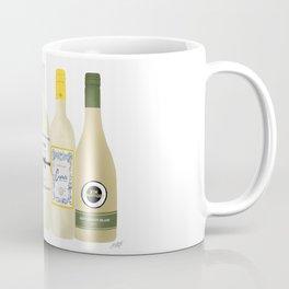 White Wine Bottles Illustration Coffee Mug