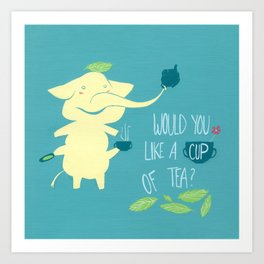 Mr. Pho & Tea Leaves Art Print