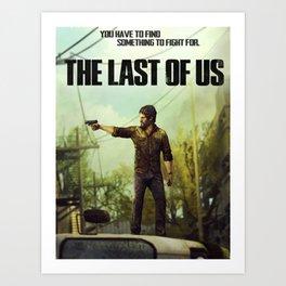 The Last of Us Joel Action Figure Art Print