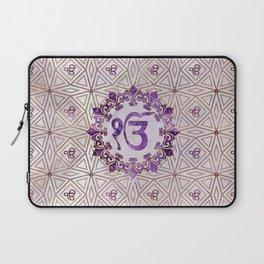 Amethyst and gold Ek Onkar / Ik Onkar symbol Laptop Sleeve