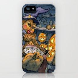 Pumpkin Stripper iPhone Case