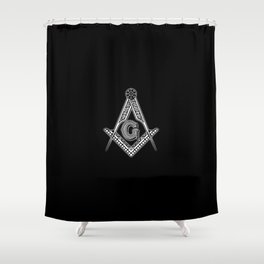 Freemason (Black) Shower Curtain