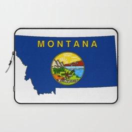Montana Map with Montana State Flag Laptop Sleeve