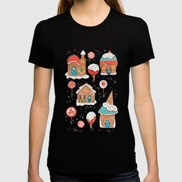 Gingerbread Candy Land Gingerbread Candy Landon pink T-shirt