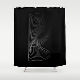 """Fly Collection"" - Abstract Minimal Letter B Print Shower Curtain"