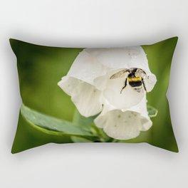 Bumblebee in the campanula Rectangular Pillow