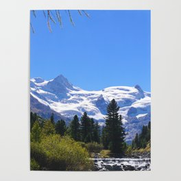 Roseggtal Switzerland - Swiss Alps Travel Poster