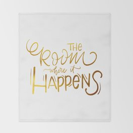 The Room Where it Happens Throw Blanket