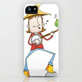 Banjo player iPhone Case