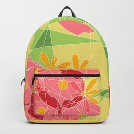 Floral Cubed Backpack