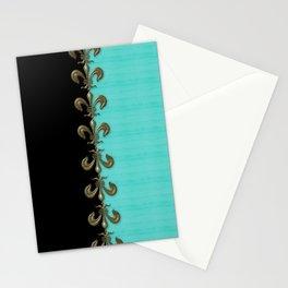 Turquoise Fleur-de-lis  Stationery Cards