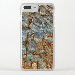 Rocky Blues Clear iPhone Case