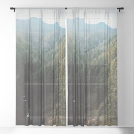 Salt Creek Falls Lookout Sheer Curtain