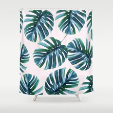 Monstera Pattern #society6 #decor #buyart Shower Curtain