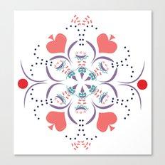 Kaleidescope Spring - White Canvas Print