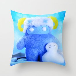 Cavern Of Frost Throw Pillow