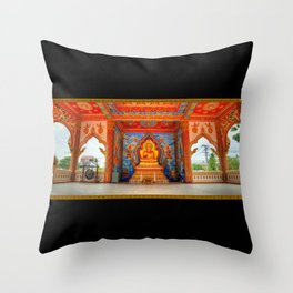 Golden Temple Laos Throw Pillow