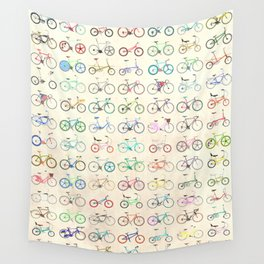 Bikes Wall Tapestry