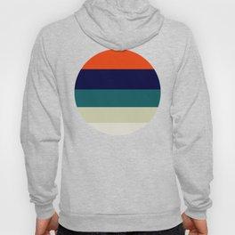 Orange & Teal Geometric Pattern Hoody