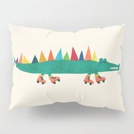 Crocodile on Roller Skates Pillow Sham