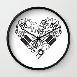 Masculine Heart Wall Clock