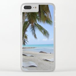 Just for Us on La Isla Saona Clear iPhone Case