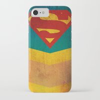 supergirl iPhone & iPod Cases featuring Supergirl by Fries Frame