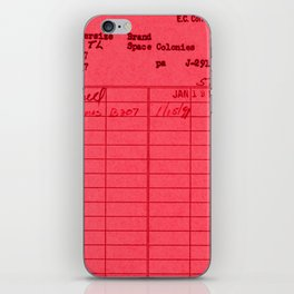 Library Card 797 Red iPhone Skin