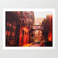 New York City Alley Art Print
