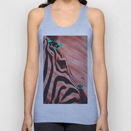 Zebras and Butterflies Unisex Tank Top