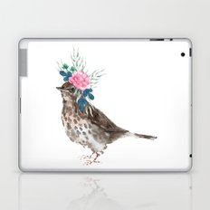Boho Chic wild bird With Flower Crown Laptop & iPad Skin
