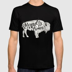 Stand Firm MEDIUM Mens Fitted Tee Black