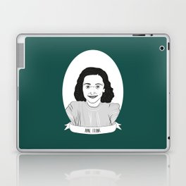 Anne Frank Illustrated Portrait Laptop & iPad Skin