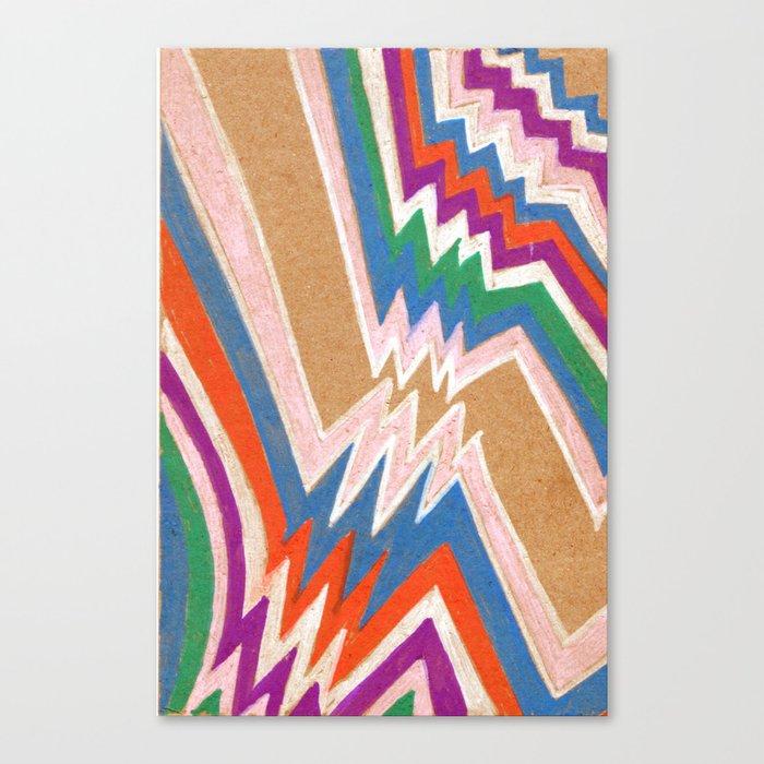 wonky chevron Canvas Print