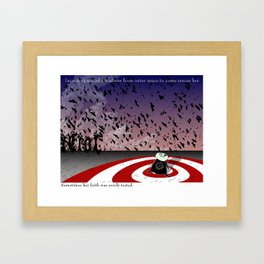 Cog sincerely wants to believe that a greater being cares about her personally Framed Art Print
