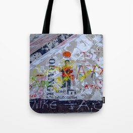Graffiti on Concrete Tote Bag