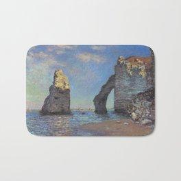 Claude Monet's The Cliffs at Etretat Bath Mat