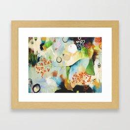"""Rainwash"" Original Painting by Flora Bowley Framed Art Print"